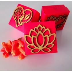 Lotus wedding cake box