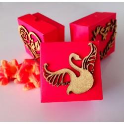 Swan wedding cake box
