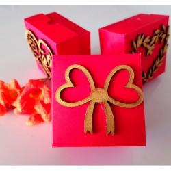 Bow heart cake box