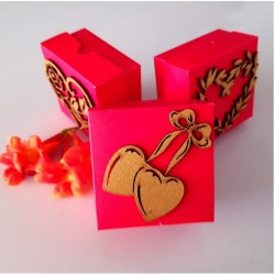 Two heart bell cake box