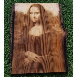 Laser Engraved Monalisa