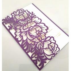 Single door Rose flower card