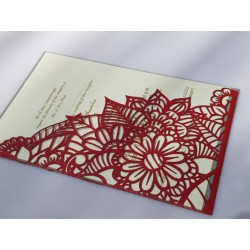 Single  Rose  with leaves card