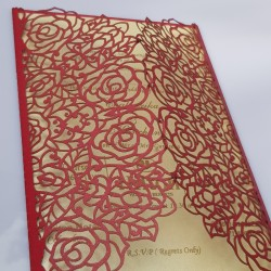 Two door all rose flower card