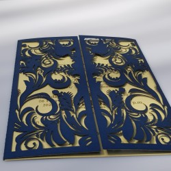 Two fold leaves card