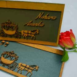 Wooden  lasercut card with...