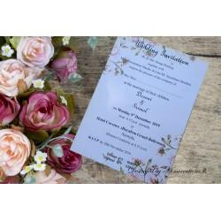 Laser print  Floral design...
