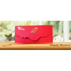 Embossed card with pigens