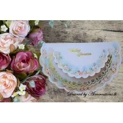 Floral two fold invitation