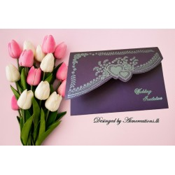 Embossed card  with print...