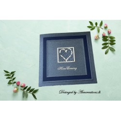 rectangle invitation with...