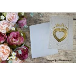 Elegant Gold heart invitation
