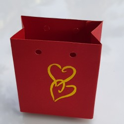 Red Bag type cake box with...