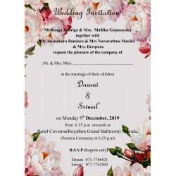 Classic floral invitation...