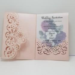 luxury triple fold card